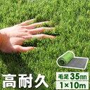 高品質&安全なEU基準【送料無料】 人工芝 ロール 1m×10m 毛足35mm u字ピン 20本 水は