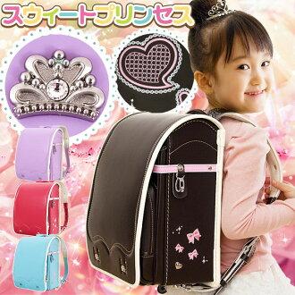 可愛的甜心公主挎包 A4 清除檔回應袋 randoseru 日本背包在日本挎包國內挎包一個觸摸鎖挎包袋挎包挎包背包袋挎包