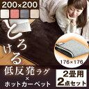 ラグ×ホットカーペット2点セット【送料無料】 ラグ 200×...