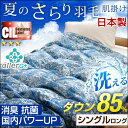 【送料無料/在庫有】日本製 羽毛肌掛け布団 洗える ダウン 85% CILレッドラベル 消臭 抗菌 【新技術アレルGプラス 気になる臭いも改善】 シングル ロング 300dp以上 洗える 国内パワーア