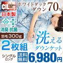 1枚あたり3,490円! 2枚組★クーポンで200円OFF★【送料無料】 日本製 洗える 肌掛け布