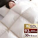 【送料無料】 日本製 羽毛布団 ホワイト ダック ダウン 93% 400dp かさ高165mm以上