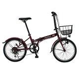 【カード決済OK】CHEVROLET CHEVY 20型折りたたみ自転車 FDB206-EX レッド FDB206-EX-RD