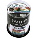 hidisc DVD-R 4.7GB 100枚スピンドル 1~16倍速対応 ワイドプリンタブル HDDR47JNP100