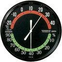 リズム時計 温湿度計 TM42 クロ 9CZ013-002