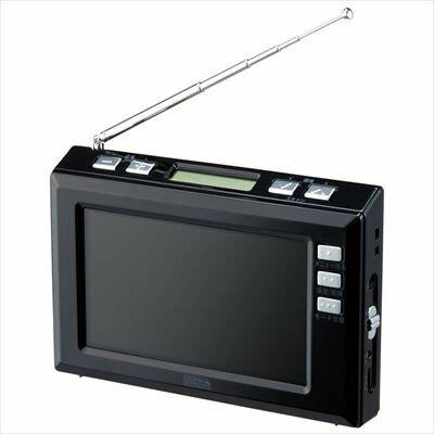 【代引手数料無料】ヤザワ 4.3インチディスプレイ ワンセグラジオ(ブラック) TV03BK【納期目安:1週間】