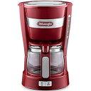 デロンギ コンパクトサイズで置き場所を選ばない最大5杯取りのドリップコーヒーメーカー(レッド) ICM14011J-R