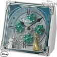 【カード決済OK】リズム時計 からくり置時計/アナと雪の女王 4RH784MA03