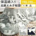 【送料無料】正方形 保温綿入り洗えるこたつ布団 北欧柄タイプ 〔ヒートキートス〕 190x190cm