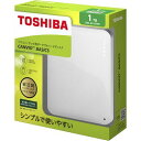 東芝コンシューママーケティング 東芝 CANVIO BASICS ポータブルハードディスク 2.5インチUSB外付けHDD(1TB) HD-AC10TW ホワイト E4391..