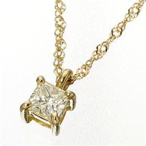 その他 0.15ctダイヤモンドプリンセスカットペンダント/ネックレス イエローゴールド(ゴールド) ds-200242 0.15ctダイヤモンドプリンセスカットペンダント/ネックレス イエローゴールド(ゴールド) (ds200242)