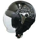 その他 ダムトラックス(DAMMTRAX) ハーフヘルメット CARINA HARF(カリーナハーフ) ブラック/DOG レディース(57cm〜58cm) ds-1426231