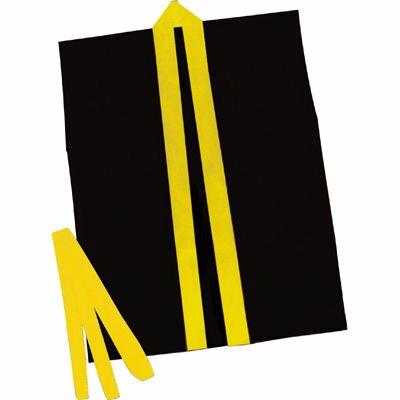 アーテック カラ-不織布ハッピ子供用袖無 S黒(黄襟) ATC-3264