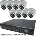 ブロードウォッチ 屋内天井型赤外線200万画素カメラ8台録画機セット SEC-MS-8A-F36P