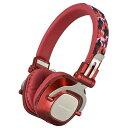 オーム電機 Bluetoothステレオヘッドホン(レッド) HP-WBT210Z-R