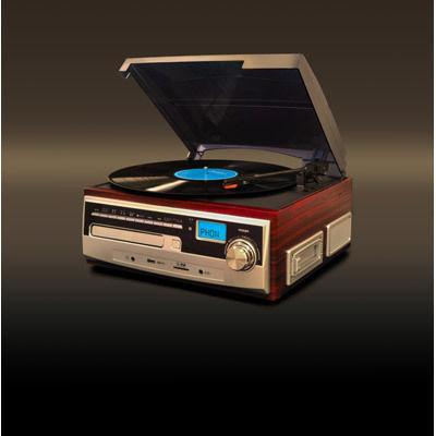 【コンビニ後払いOK】ベルソス マルチレコードプレイヤー (ブラウン) VS-M001