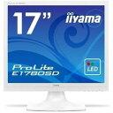 イーヤマ <ProLite>17インチTFTモニタ E1706SD-W3 (1280x1024/D-Sub15Pin/HDCP対応DVI/S-スピーカー/ホワイト) E1780SD-W1
