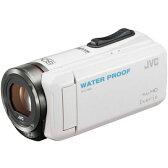 【あす楽対応_関東】ビクター EVERIO 防水 防塵 内蔵メモリー32GB ビデオカメラ ホワイト GZ-R300-W