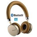 パイオニア Bluetooth対応ワイヤレスヘッドホン(ブラウン) SE-MJ561BT-T
