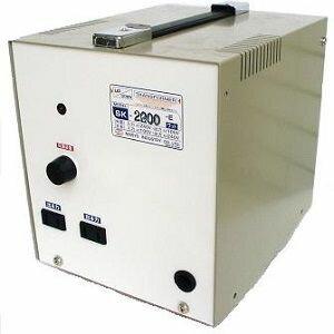 日章工業 アップ/ダウントランス(AC220⇔AC100V、2200W) SK-2200E【納期目安:3週間】