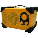 WINTECH 防滴防塵対応現場ラジオ GBR-3C IP54等級(イエロー) GBR-3C