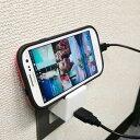 ブライトンネット スタンド機能付USB-ACアダプタ 2A対応 (ブラック) BM-USBACSTD/BK
