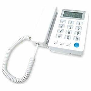 カシムラ 停電時でも使えるかんたん電話機。液晶付シンプルフォン NSS-08