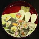 パール金属 すしパーティ 漆器手巻き・ちらし寿司 5点セット D-483 (飯台 しゃもじ 巻きす) 4976790304832