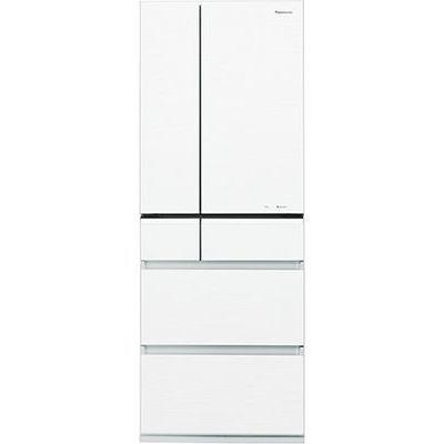 パナソニック 551Lフレンチ6ドア「微凍結パーシャル」搭載冷蔵庫(スノーホワイト) (スノーホワイト) (NRF552PVW) NR-F552PV-W