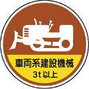 ショッピングステッカー ユニット ユニット 作業管理ステッカー車両系建設機械3t PPステッカ 35Ф 2枚1入 37098A