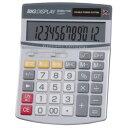 ジェントス ADESSO(アデッソ) ビッグディスプレイ電卓 セミデスク 12桁 D-2850T E218194H