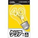 オーム電機 オーム電機 クリア電球 40W形 口金E26 LC100V40W55 / 1P E435843H【納期目安:1週間】