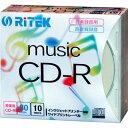 アールアイジャパン RiTEK 音楽録音用CD-R 5mmスリムケース10枚入 CD-RMU80.10P C CDRMU8010PC【納期目...