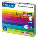 三菱化学メディア 2.4〜8倍速対応 データ用DVD+R DLメディア (8.5GB・5枚) DTR85HP5V1【納期目安:約10営業日】