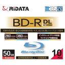 アールアイジャパン RiDATA 一回録画用BD-R(DL) ワイドプリントレーベルディスク 1〜6倍速 50GB 10枚スリムケース BDR260PW6X10PSCA【..