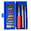 ショッピング電動 アイガーツール 精密デザインナイフセット 13本組セット EPK-13 4986449160276