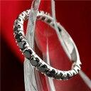 その他 K18WG 1ctブラックダイヤリング 指輪 エタニティリング 15号 ds-211790