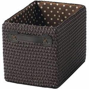 RoomClip商品情報 - ちどり産業 PP バスケット カラーボックス対応 ハーフタイプ モノトーン ダークブラウン 幅18×奥行26×高さ20cm 13-92DBR 4517657139206