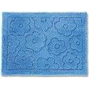 オカ バスマット 乾度良好 サニー 吸水 抗菌 防臭 ブルー 約36×55cm 4548622708127