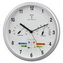 その他 EMPEX 掛け時計 パル 電波時計 1台4役 BW-878 シャインシルバー ds-1762738
