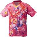 その他 ニッタク(Nittaku)卓球アパレル UNI SKYCRYSTAL SHIRT(ユニスカイクリスタルシャツ)ゲームシャツ(男女兼用 ・ジュニアサイズ対応)NW2182 ピンク SS ds-2056704