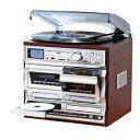 その他 オーディオ レコードブレーヤー 多機能 音楽プレーヤー レコード CD カセット ラジオ 録音【代引不可】 ds-2130580