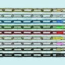 ショッピングチェーン トラスコ中山 水本 アルミカラーチェーン ピンク AL-3.5P 長さ・リンク数指定カット 2.1〜3m tr-1599389