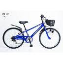 21Technology 24インチ子供マウンテンバイク(6段変速付き) (KD246-ブルー) 4562320211703