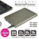 24000mAh大容量ノートPC対応バッテリー モバイルパワー BPS MobilePower MP-24000