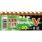 【メール便】富士通 FDK アルカリ乾電池 TOPV 単4形10個パック LR03(10S)TOPV【日本製(国産)】
