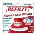 REFILIT(チェリー味) 歯の詰め物が外れた時のセメント・被せ物用接着剤 仮着用 虫歯 応急処置