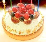 只有一日限定5人向分制作重要的生日!【一日5台限定】木莓的白生日蛋糕14cm【盘·蜡烛免费】[一日限定5名様分しかお作りしません大切なお誕生日に!【一日5台限定】木苺のホワイトバースデーケーキ14cm【プレート・キ