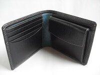 折財布ブラックピックスキン(メンズ)