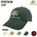 ステットソン キャップ ローキャップ リネン×コットン メンズ 紳士 ベースボールキャップ 野球帽子 STETSON CAP ブランド帽子 フリーサイズ サイズ調整可 注目ブランド かっこいい ギフト [カラー]ブラック 黒